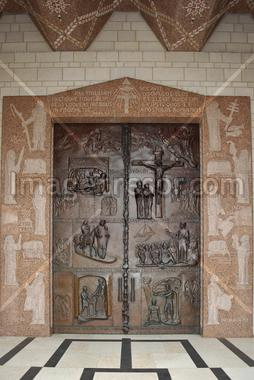 Front door of the Basilica of the Annunciation; Nazareth