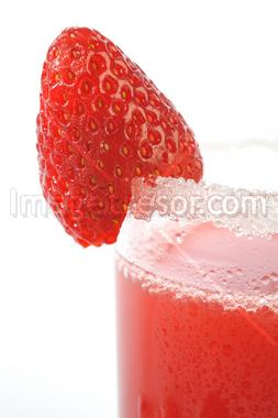 strawberry and glass juice