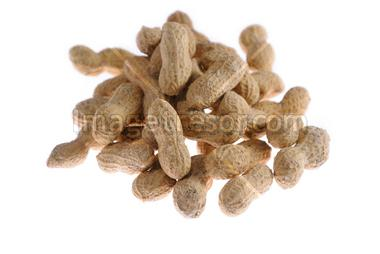 Peanuts pile isolated on a white background